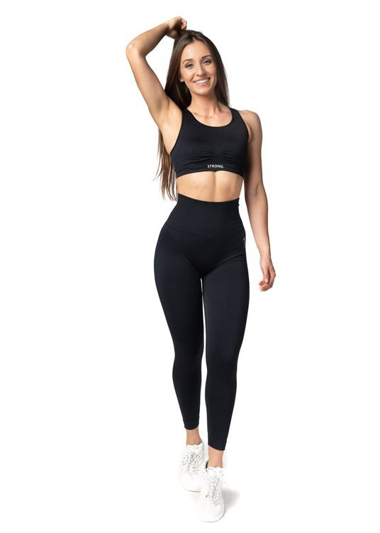 Bezszwowe Legginsy Double Push Up Revolution. Black.