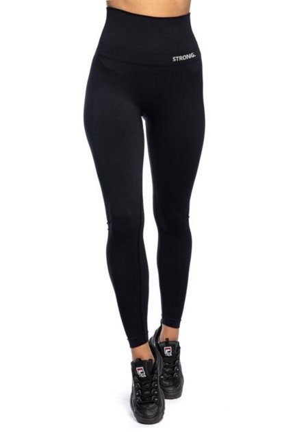 "LEGGINSY BEZSZWOWE ""24H"" BLACK (PUSH UP)"