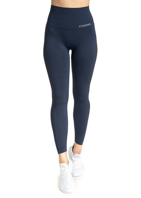 "LEGGINSY BEZSZWOWE ""24H"" NAVY BLUE (PUSH UP)"