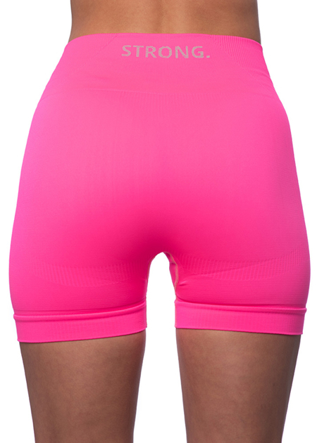STRONG. - BEZSZWOWE SPODENKI NEON PINK (PUSH UP)