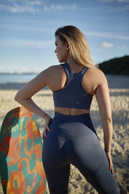 Strong. Legginsy Double Push Up Revolution. Navy Blue Jeans.